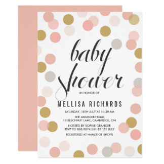 polka dot baby shower invitations announcements zazzle