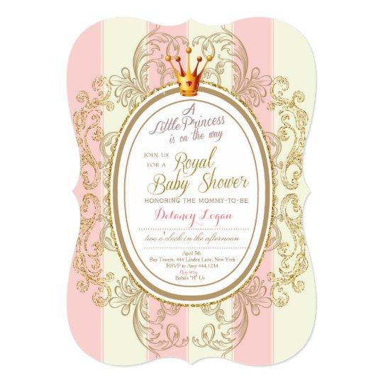 Blush Gold Royal Princess Baby Shower Invitation Zazzle Com