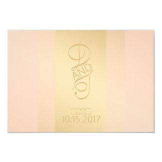 Blush Gold Thank You Card