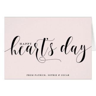 Blush Happy Heart's Day Script | Valentine's Day Card