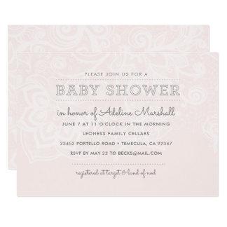 Blush & Lace Baby Shower Invitation