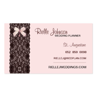 Blush Lace Business Card