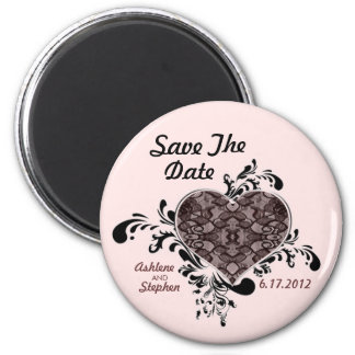Blush Lace Save The Date Magnet