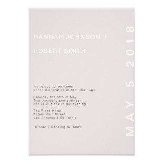 Blush Modern Wedding Invitation