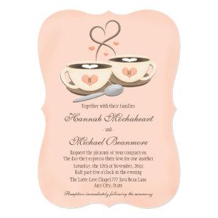 two hearts wedding invitations zazzle