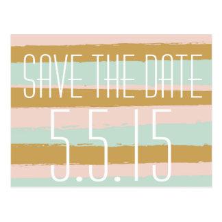 Blush Painting Save the Date Modern Vibe Postcard