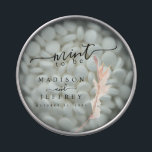 """Blush Pampas Grass Minimalist Wedding Mint Candy Tin<br><div class=""""desc"""">For questions or changes made to this template please message me on Zazzle or email emmasuebowtique@gmail.com</div>"""