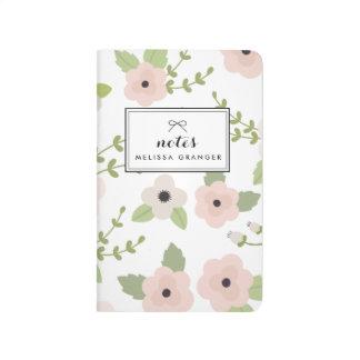 Blush Pastel Floral Pattern Personalized Journal