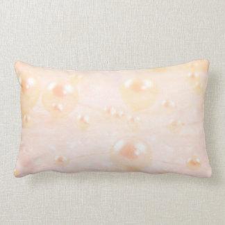 Blush pearls lumbar pillow