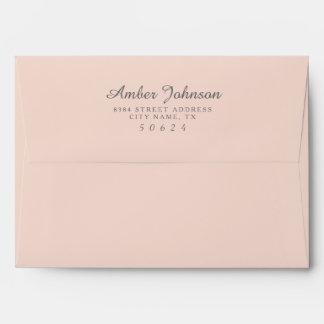 Blush Pink 5 x 7 Pre-Addressed Envelopes