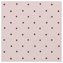 Blush Pink and Black Mini Polka Dot Pattern Fabric