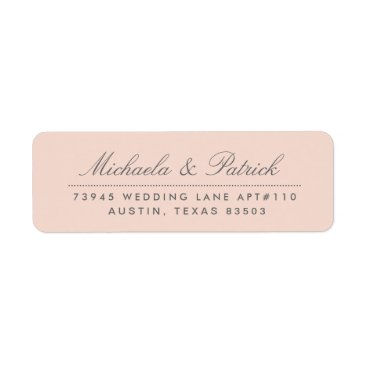 Toddler & Baby themed Blush Pink and Charcoal Gray Address Labels