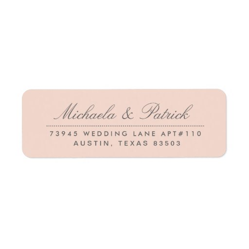 Blush Pink and Charcoal Gray Address Labels