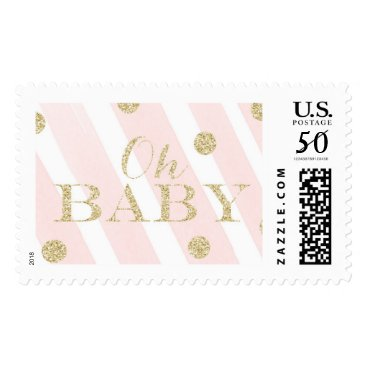 Toddler & Baby themed Blush Pink and Gold Baby Shower | Oh Baby Postage