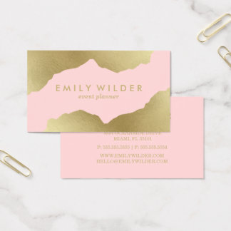 Blush Pink and Gold Dipped | Business Card