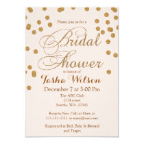 Blush Pink and Gold Glitter Bridal Shower Invite