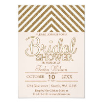 Blush Pink and Gold Glitter Bridal Shower Invite