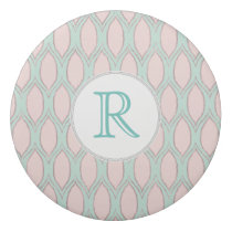 blush pink and mint Modern Geometric Pattern Eraser
