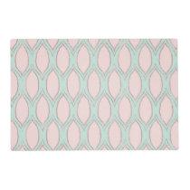 blush pink and mint Modern Geometric Pattern Placemat