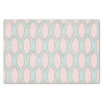 blush pink and mint Modern Geometric Pattern Tissue Paper