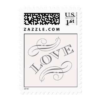 Blush Pink and Slate Grey Love stamp