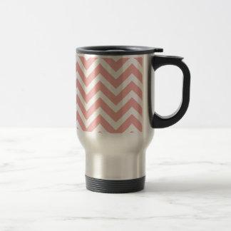Blush Pink and White Chevron Zig Zag Coffee Mug