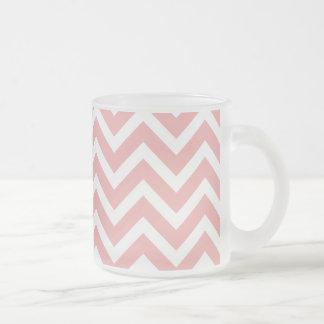 Blush Pink and White Chevron Zig Zag Coffee Mugs