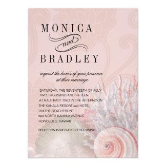 Blush Pink Beach Wedding | Seashell Dreams Card