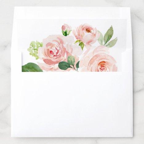 Blush Pink Bloom Envelope Liner