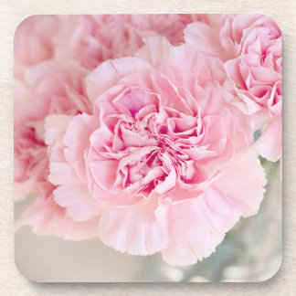 Blush Pink Carnations Coaster