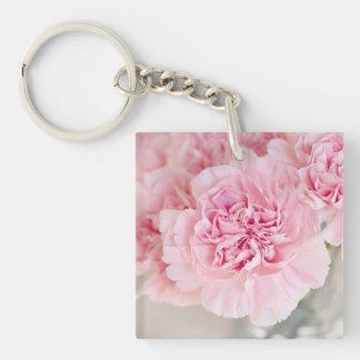 Blush Pink Carnations Keychain