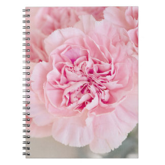 Blush Pink Carnations Spiral Notebook