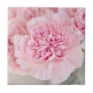 Blush Pink Carnations Tile