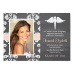 Blush Pink Chalkboard Nursing School Graduation 5x7 Paper Invitation Card
