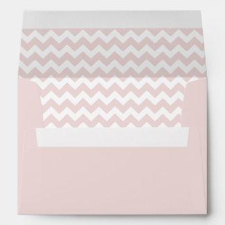 Blush Pink Chevron Print Envelope