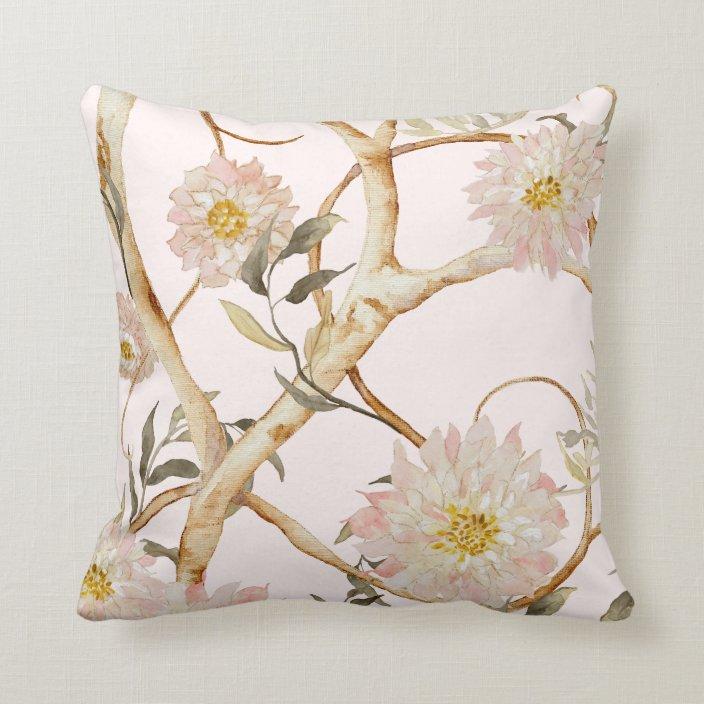 Fl Watercolor Art Throw Pillow