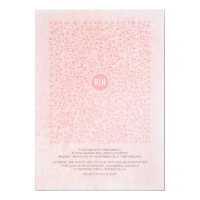 Blush Pink Elegant Floral Vintage Monogram Wedding Card
