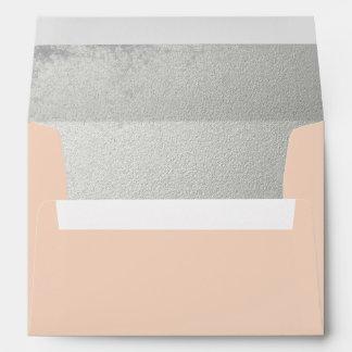 Blush Pink Embossed Silver-effect Inside Lined Envelope