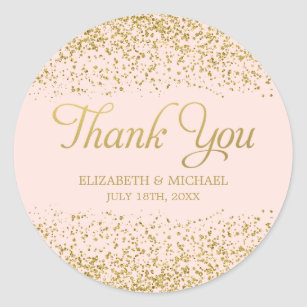 thank you wedding stickers labels zazzle