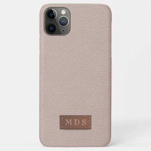 Blush Pink Faux Leather Rose Gold 3D Monogram Phone Case