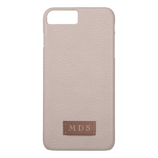wholesale dealer e8077 ca218 Blush Pink Faux Leather Rose Gold 3D Monogram Case-Mate iPhone Case ...