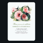 """Blush Pink Floral 18th Birthday Party Invitation<br><div class=""""desc"""">Adorable blush pink watercolor flowers 18th birthday party invitations</div>"""