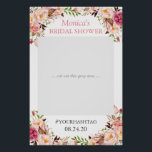 "Blush Pink Floral Elegant Bridal Shower Photo Prop Poster<br><div class=""desc"">Blush Pink Floral Elegant Bridal Shower Photo Prop Poster. (1) The default size is 24&quot;x36&quot; inches, you can change it to other size. 18&quot;x27&quot; (1-2 people), 24&quot;x36&quot; (2-3 people), 32&quot;x48&quot; (3-4 people). (2) Once your receive the poster, you need to mount it on a foam board (Foam board can usually...</div>"
