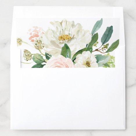 Blush Pink Floral Wedding Envelope Liner