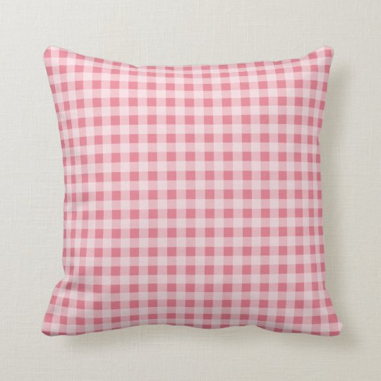 Blush Pink Gingham Throw Pillow Zazzle
