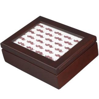 Blush Pink Glitter Mustache Pattern Keepsake Boxes