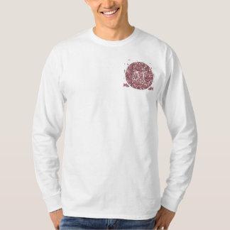 Blush Pink Glitter Mustache Pattern Your Monogram T-Shirt