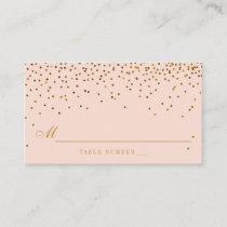 Blush Pink & Gold Confetti Wedding Escort Cards