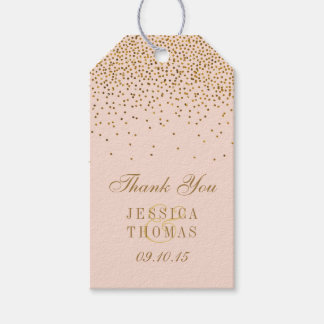 Blush Pink Amp Gold Confetti Wedding Gift Tags