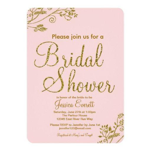Pink And Gold Bridal Shower Invitations absolutely amazing ideas for your invitation example
